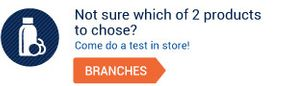 Not sure which of 2 products to chose? Come do a test in store!